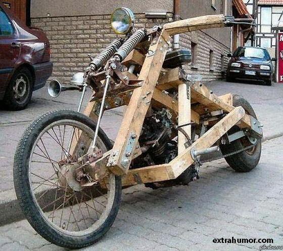 Как сделать мотоцикл из людей 560