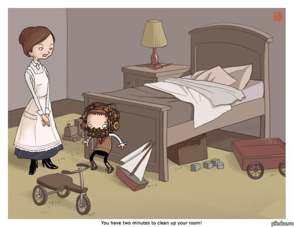 Вот как надо учить детей убирать в комнате Пила - 8