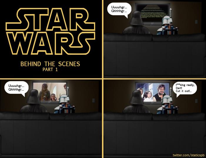 """Дыхание Вейдера: """"Бля, в натуре, Дарт! Заканчивай!"""" )))) Смотрел сегодня по ТВ """"Звездные Войны"""", и не смог не по-фотошопить по этому поводу))))"""