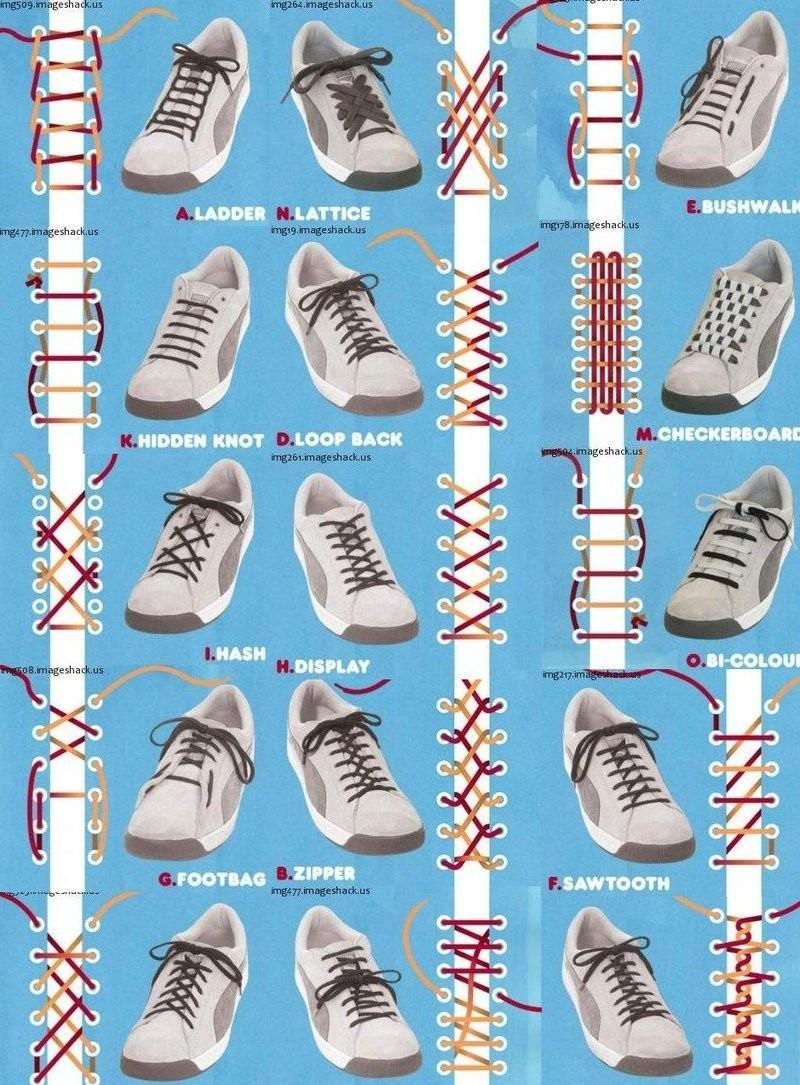 Как сделать шнурки для кроссовок