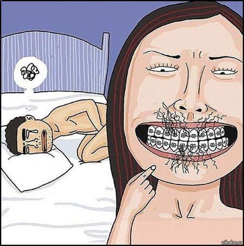 Оральный секс брекеты
