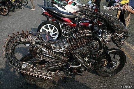 Как сделать мотоцикл из людей 499