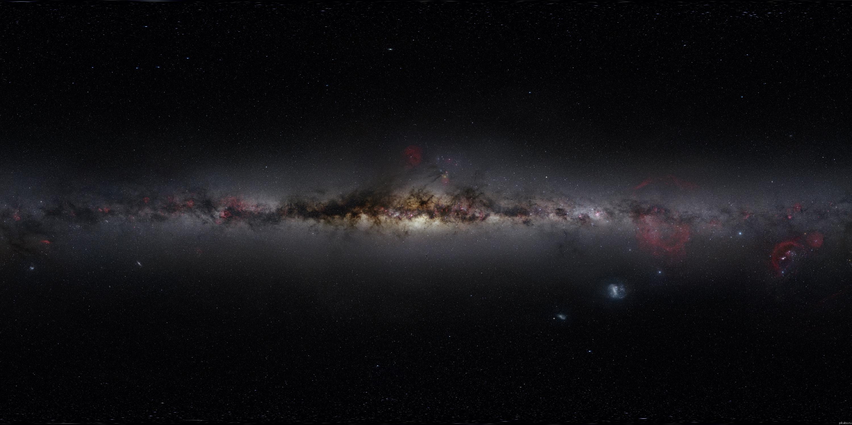 Галактика млечный путь вид с ребра