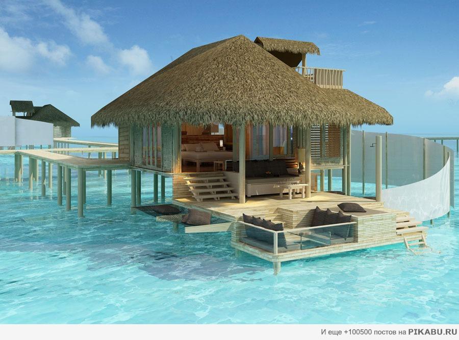фото красивого дома на море