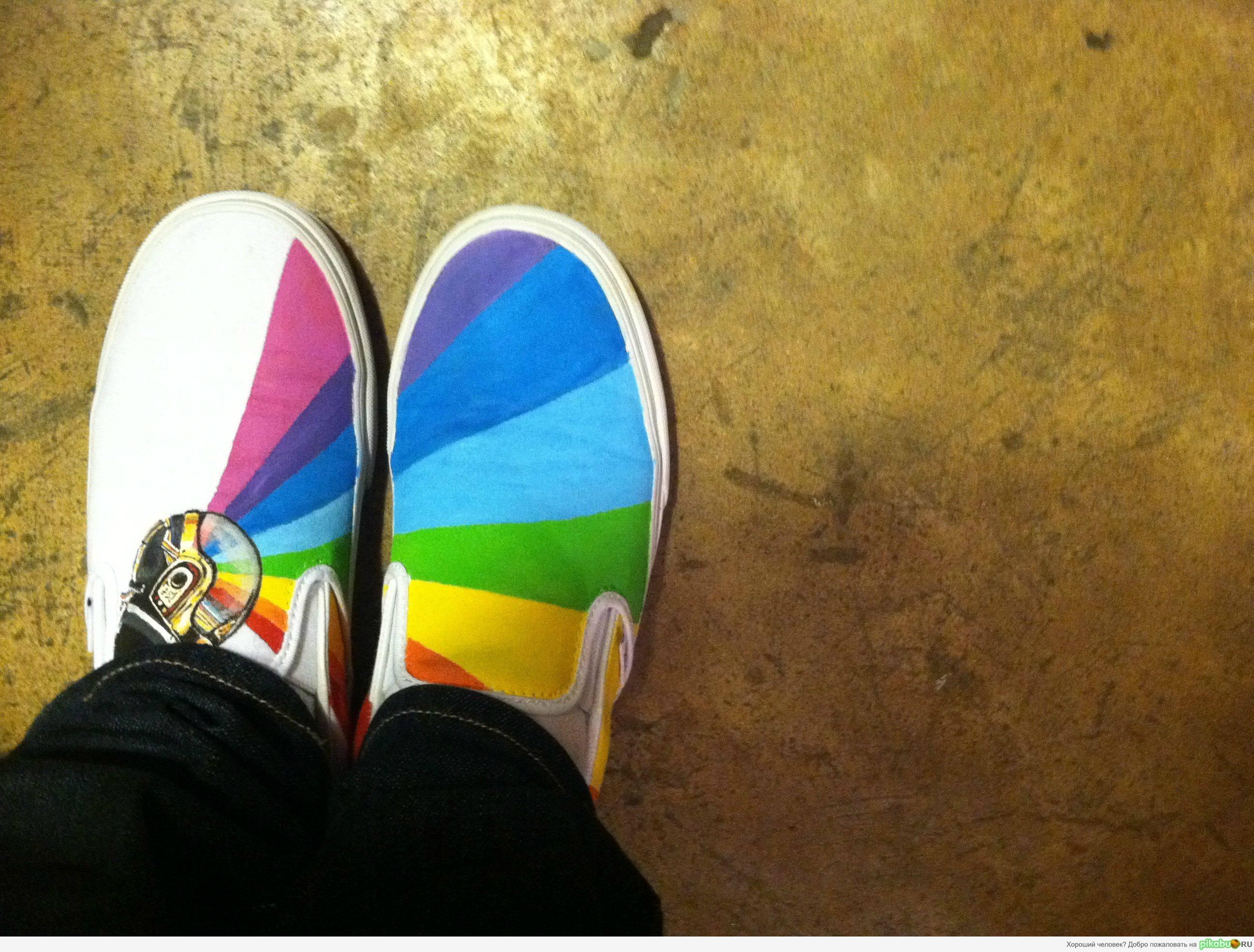 Рисунки на обуви своими руками