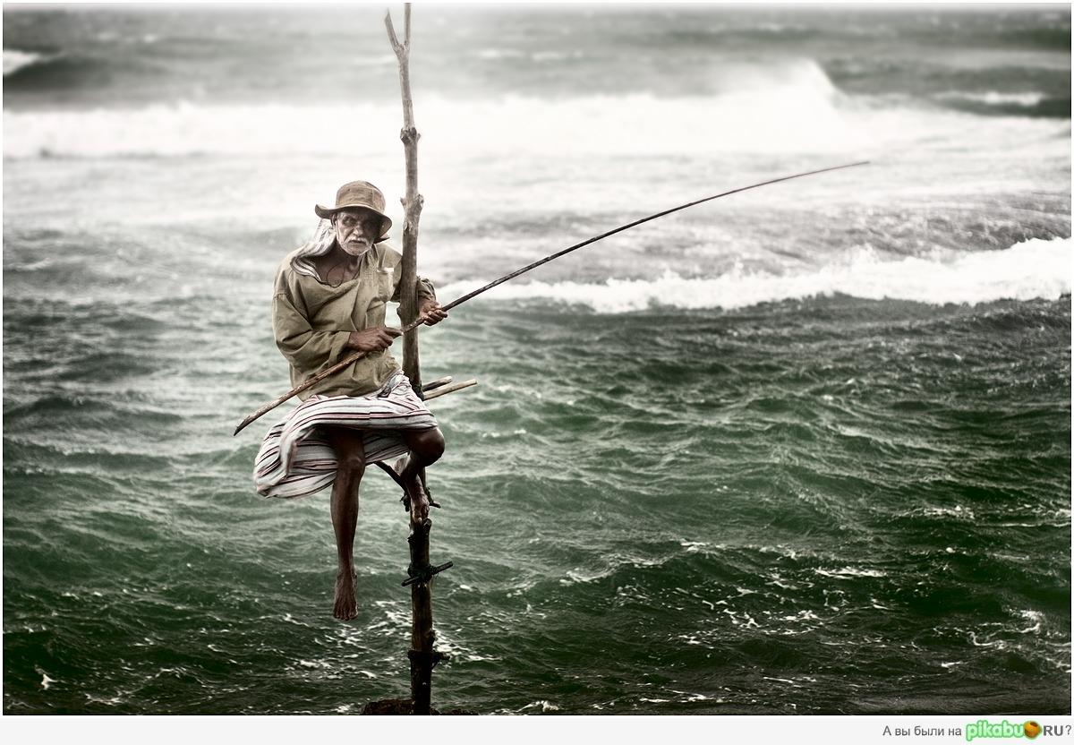 я живу у моря и ловлю рыбу