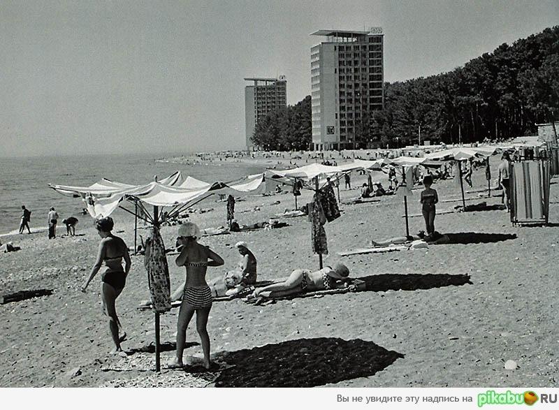 На пляже ссср ретро фото