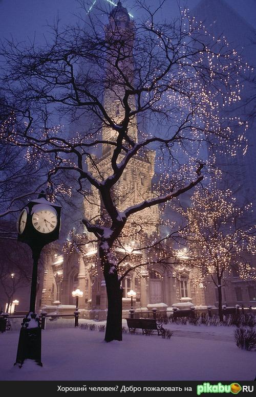 Ночные фото девушек зимой