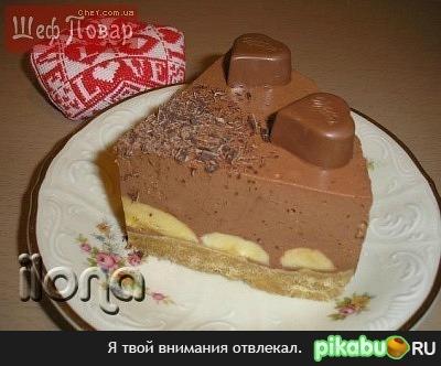 Непеченый торт со сметаной и ананасом с фото