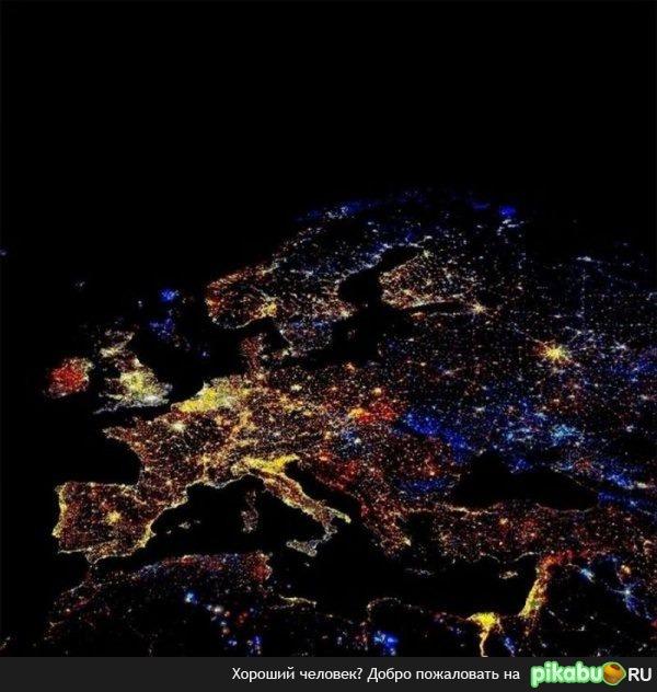 фотографии земли в ночное время