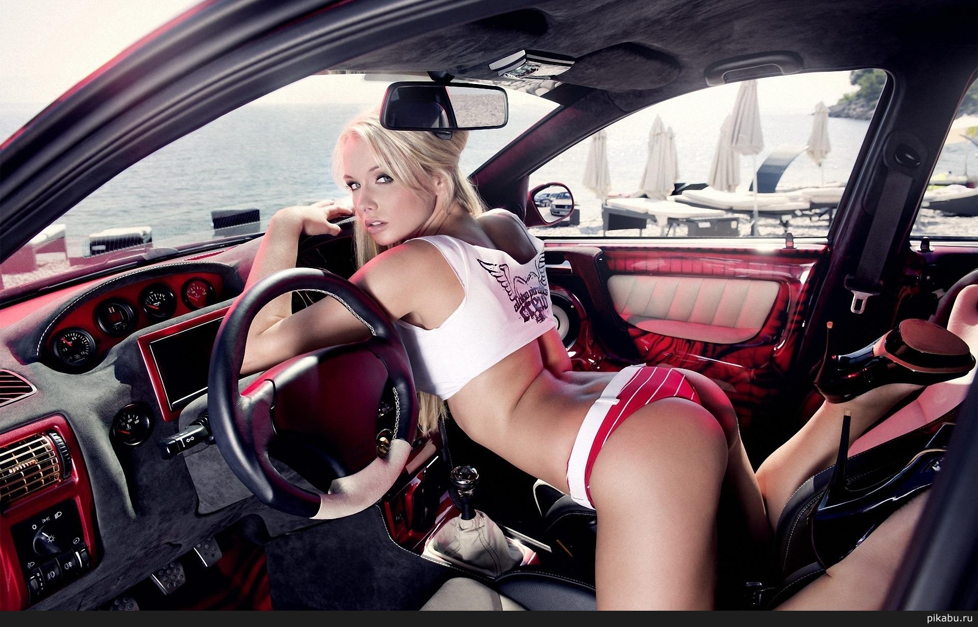 Красивые девушки в машине блондинки фото