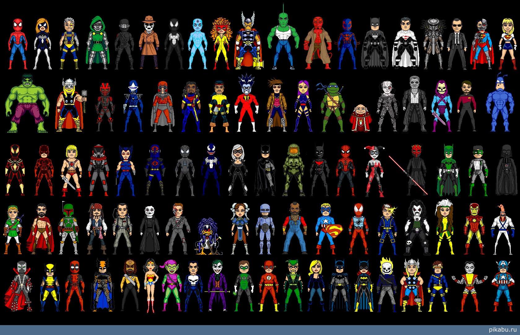 Супергерои и суперзлодеи мобильная