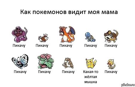 фото и названия покемонов