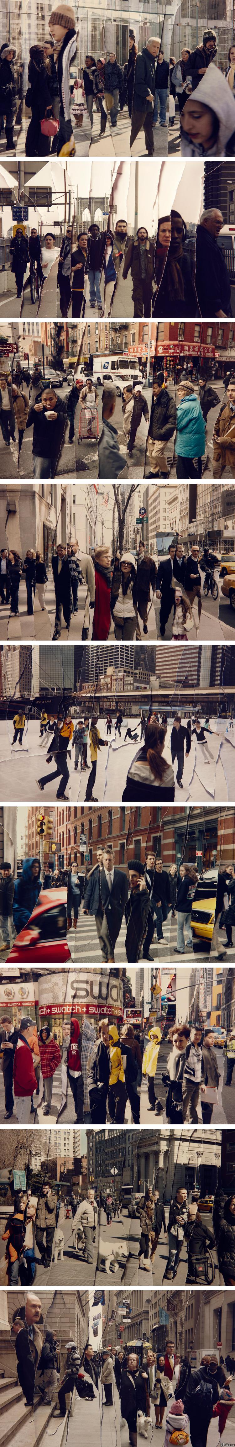 """Фотопроект """"Время"""" Фотограф Джек Кланг решил показать, насколько узко наше личное пространство, ведь мы постоянно ходим по одним и тем же улицам, что и остальные."""