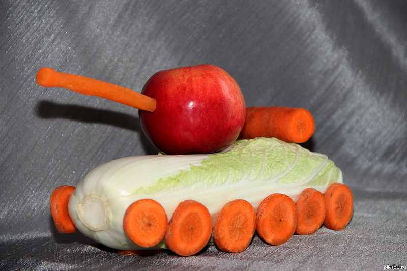 Сделать поделку из овоща