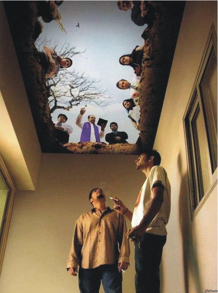 3д рисунки на потолке 91