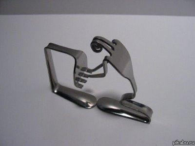 Fork Art - вилкоискусство интересные фигурки из вилок