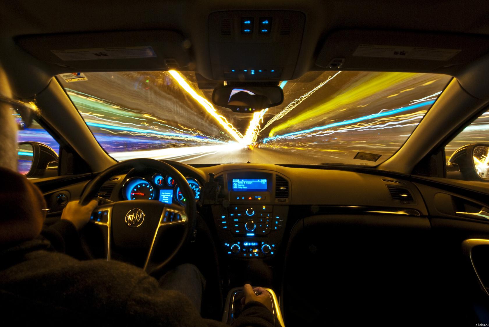 Ночной город из машины фото 5