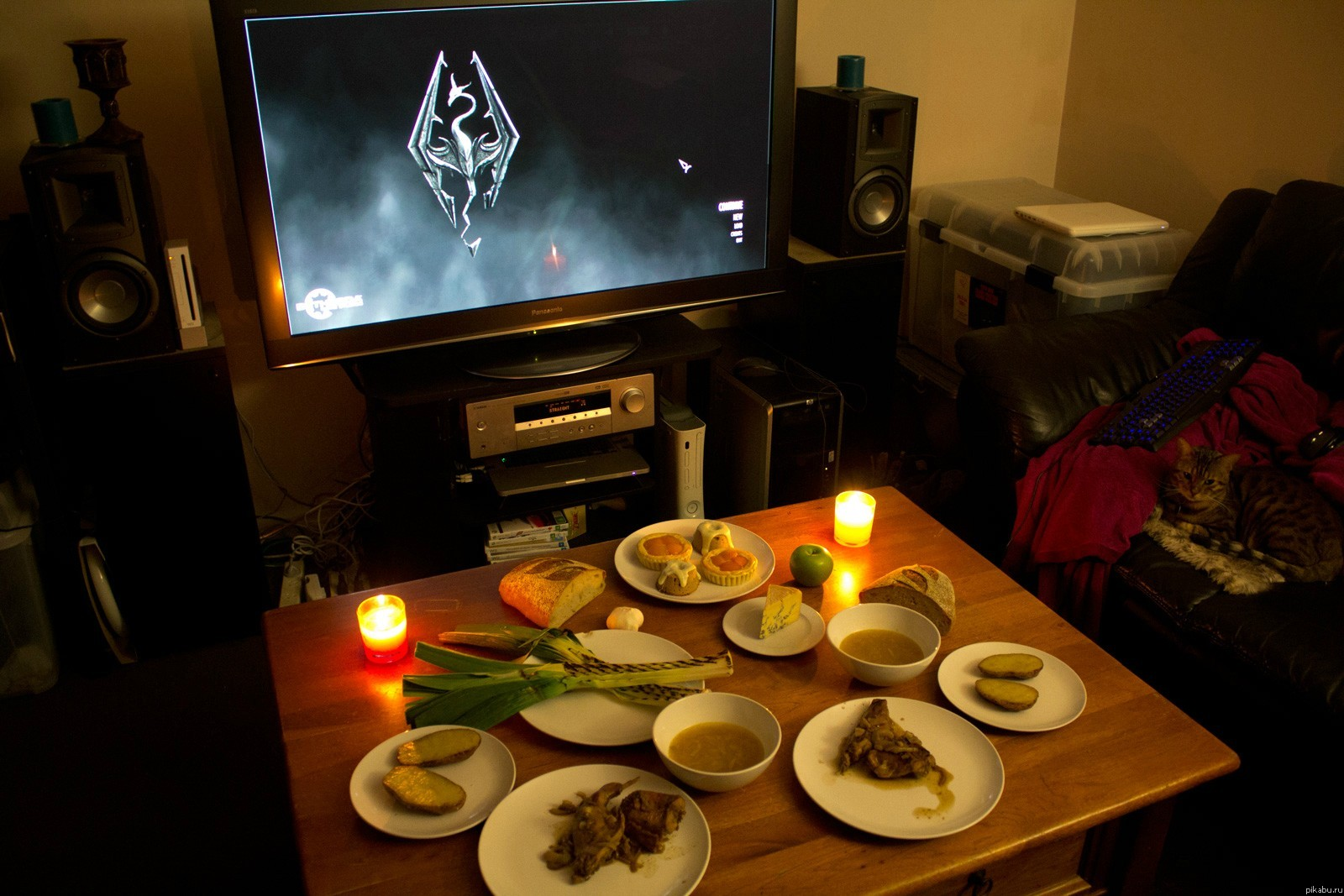 Ужин в домашних условиях фото