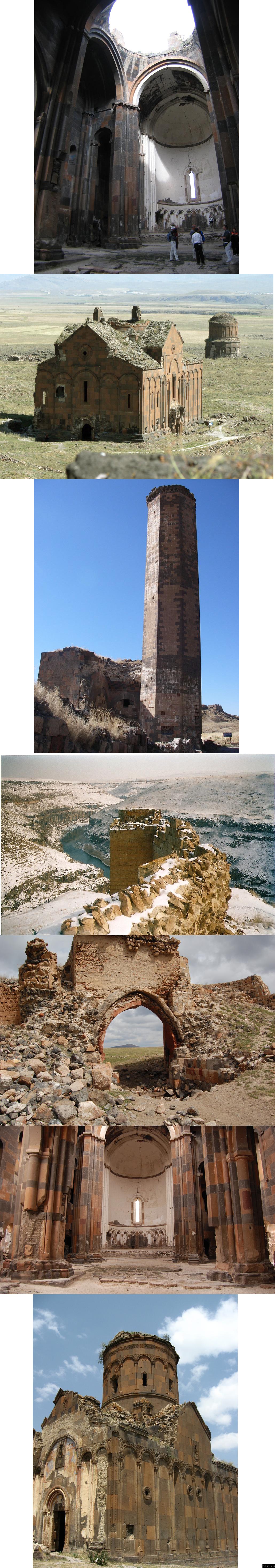 Город 1001 церкви Город-призрак Ани был основан в 4(5?) веке нашей эры. В период расцвета город имел население не менее 100 тысяч человек.
