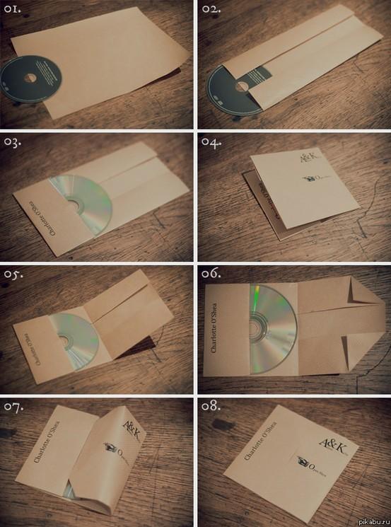 Как упаковать диск в лист А4? Очень просто и быстро!  Другое