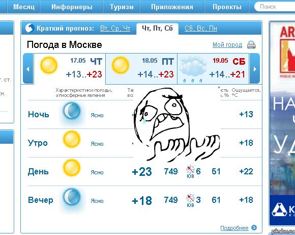 какая погода в москве и московской области на месяц