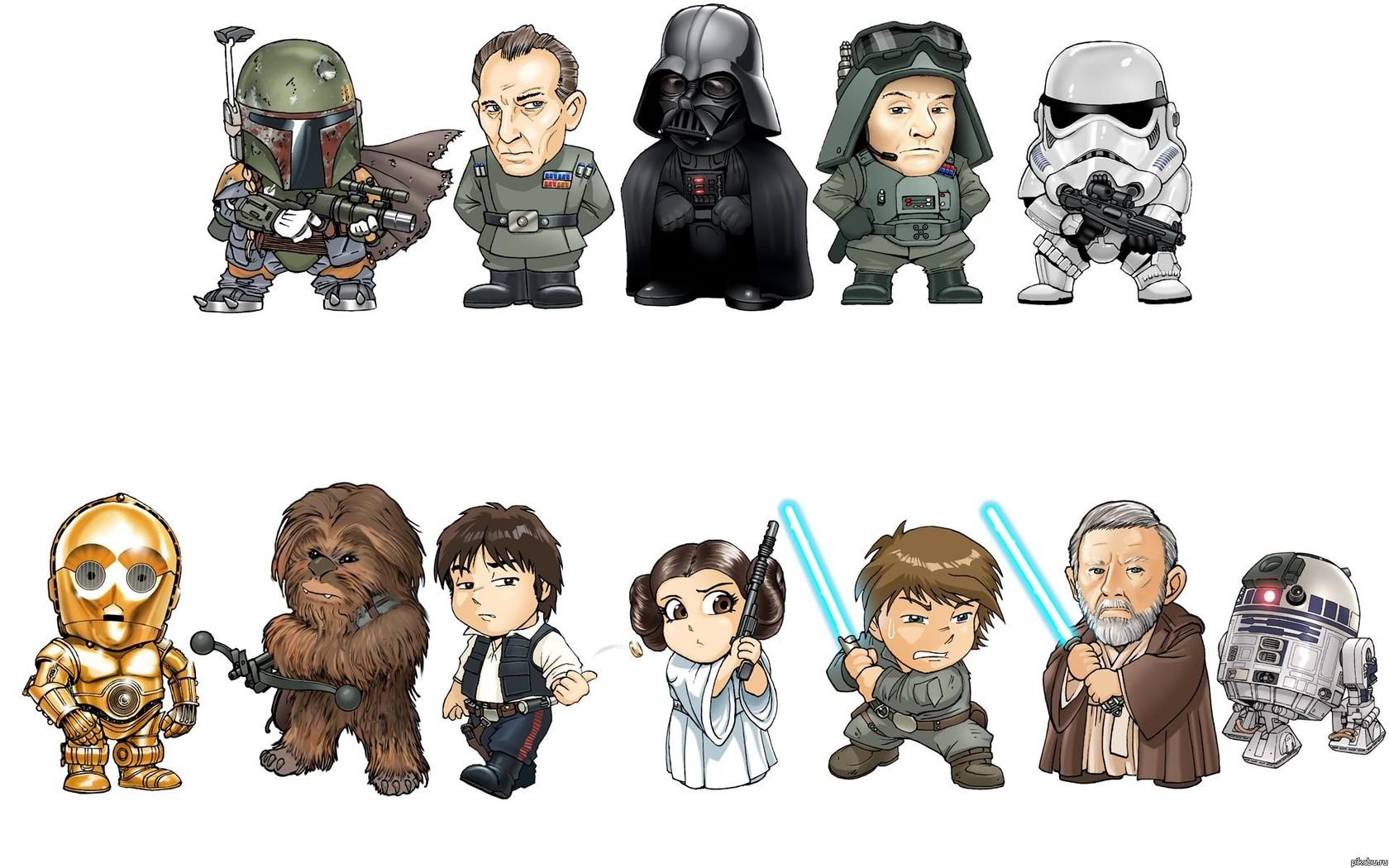 Рисуем персонажей из звездных воинов