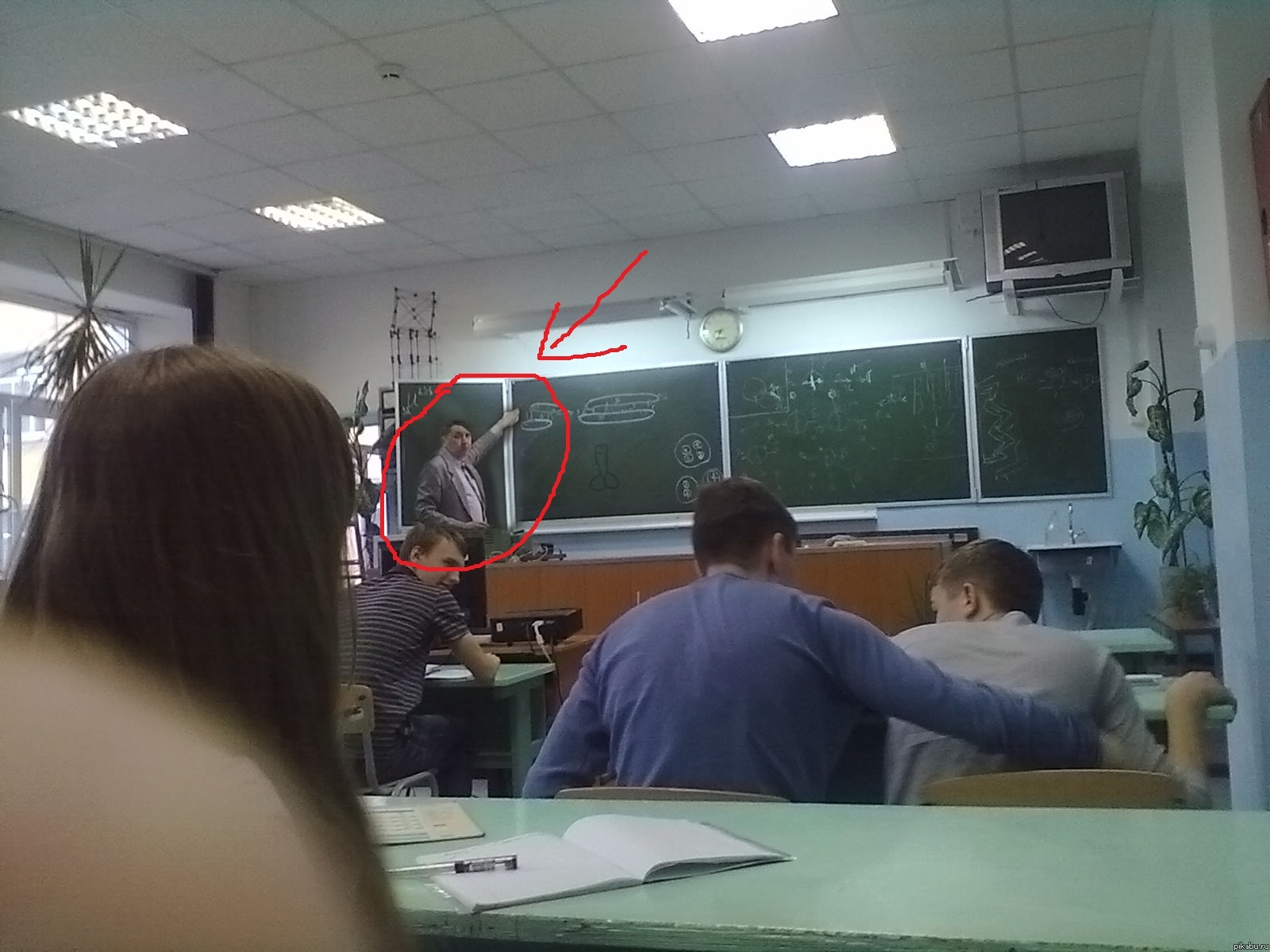 у нас в школе: