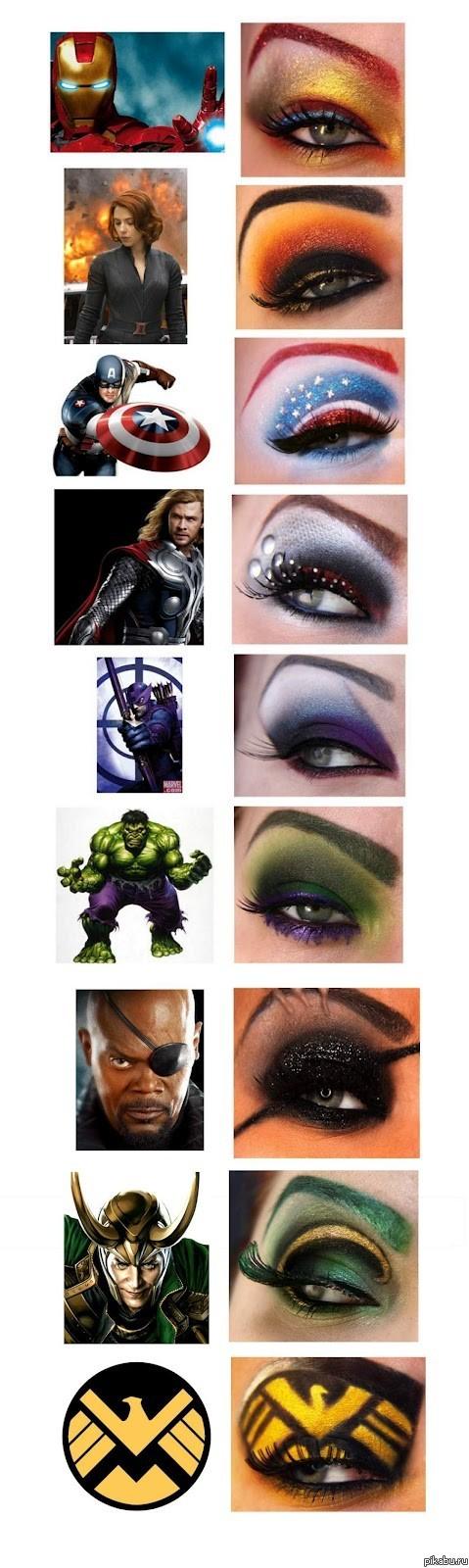 Superhero eye makeup
