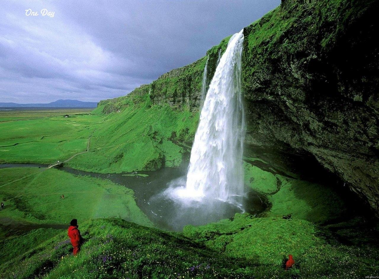 Водопад сельяландфосс исландия