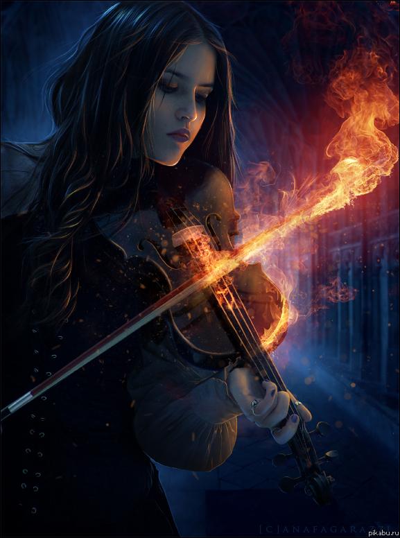 Фантастическая игра на скрипке