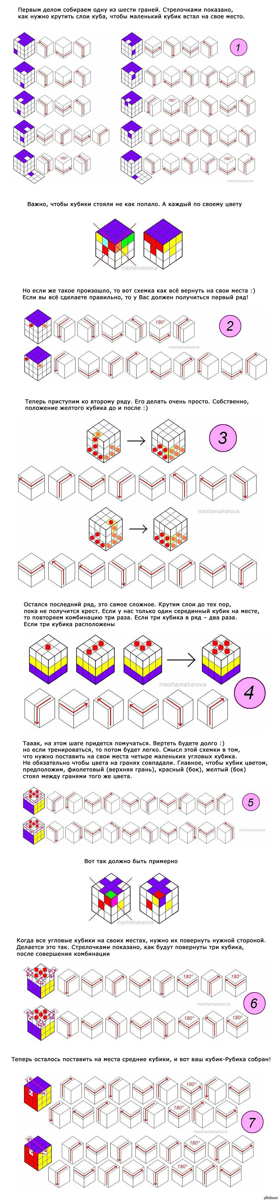 схема сборки кубика рубика белорусская