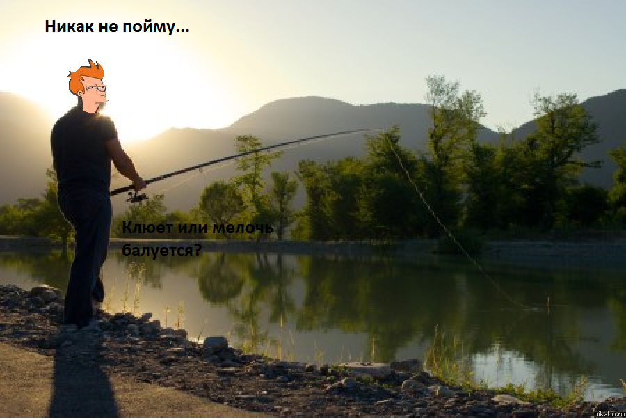 однажды я ловил рыбу на небольшом озере крутые берега которого густо заросли цепкой ежевикой