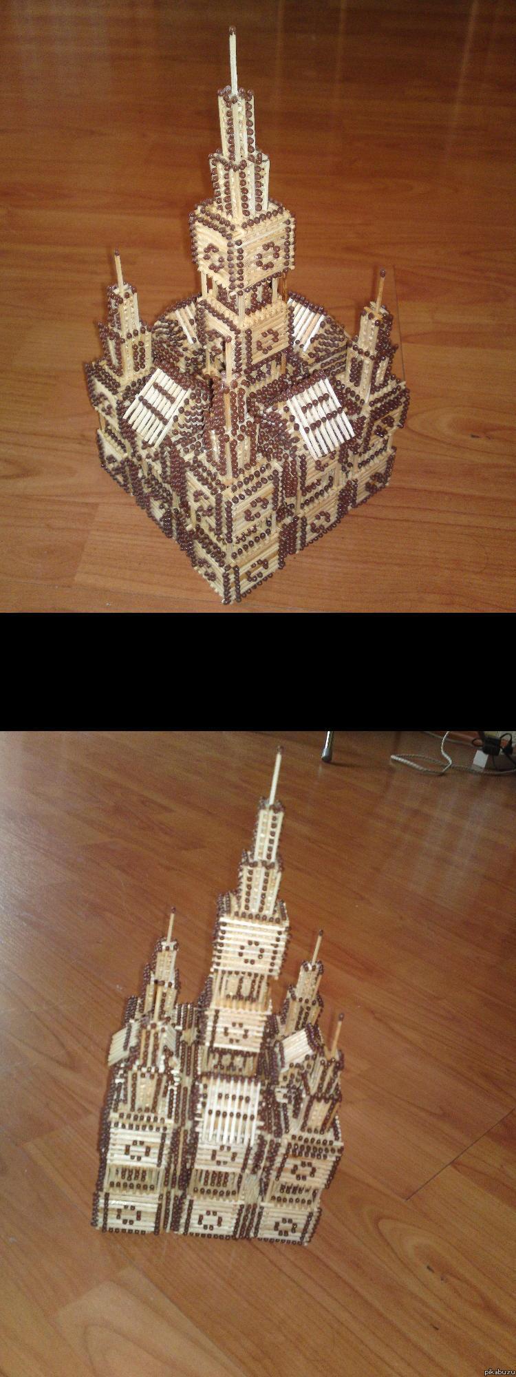 Как сделать замок из спичек пошаговая инструкция