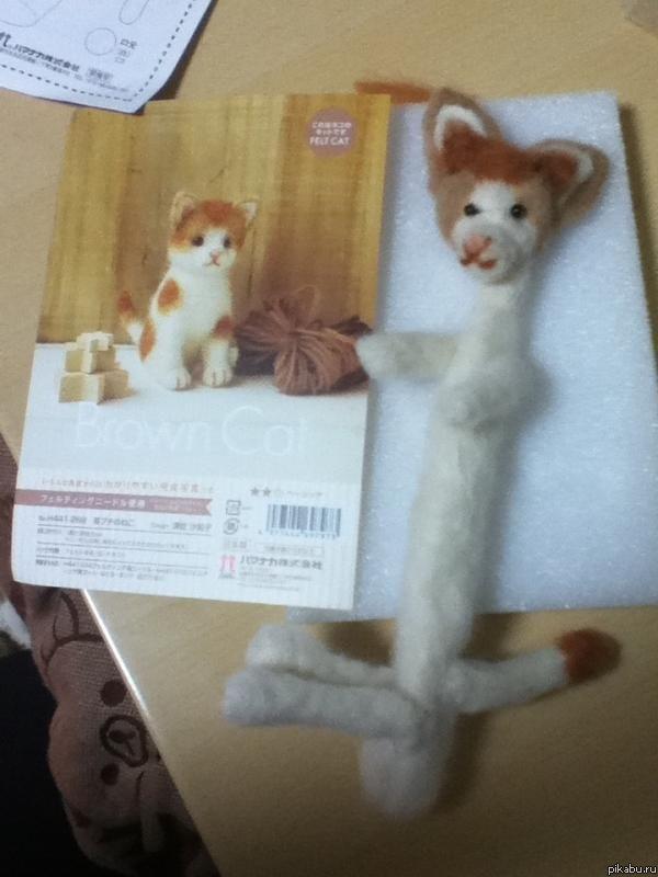 Сделал кота из валенной шерсти. У меня получилось?