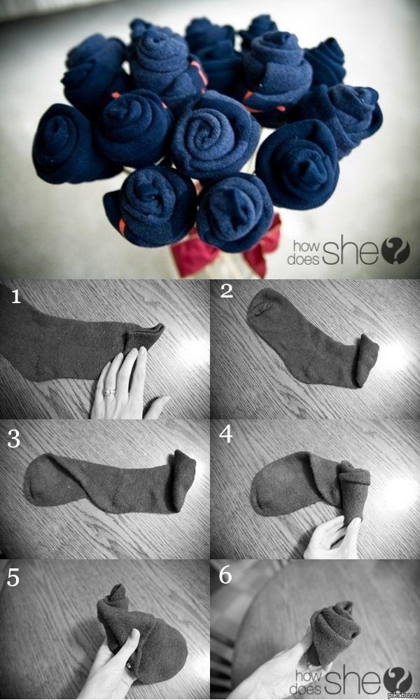 Поделки из мужских носков своими руками мастер класс