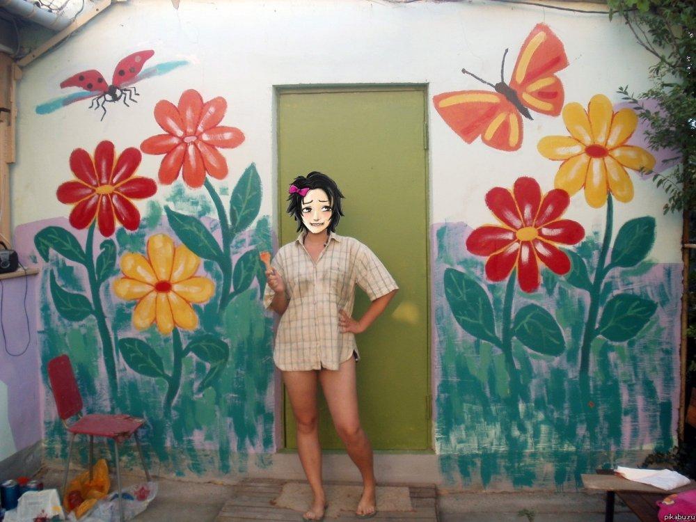 Как разрисовать стены своими руками 88