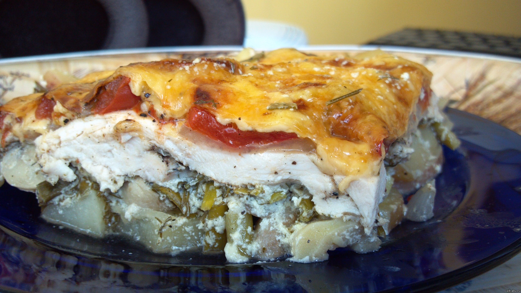 Запеканка из картофеля с грибами и сыром слоями пошаговый рецепт