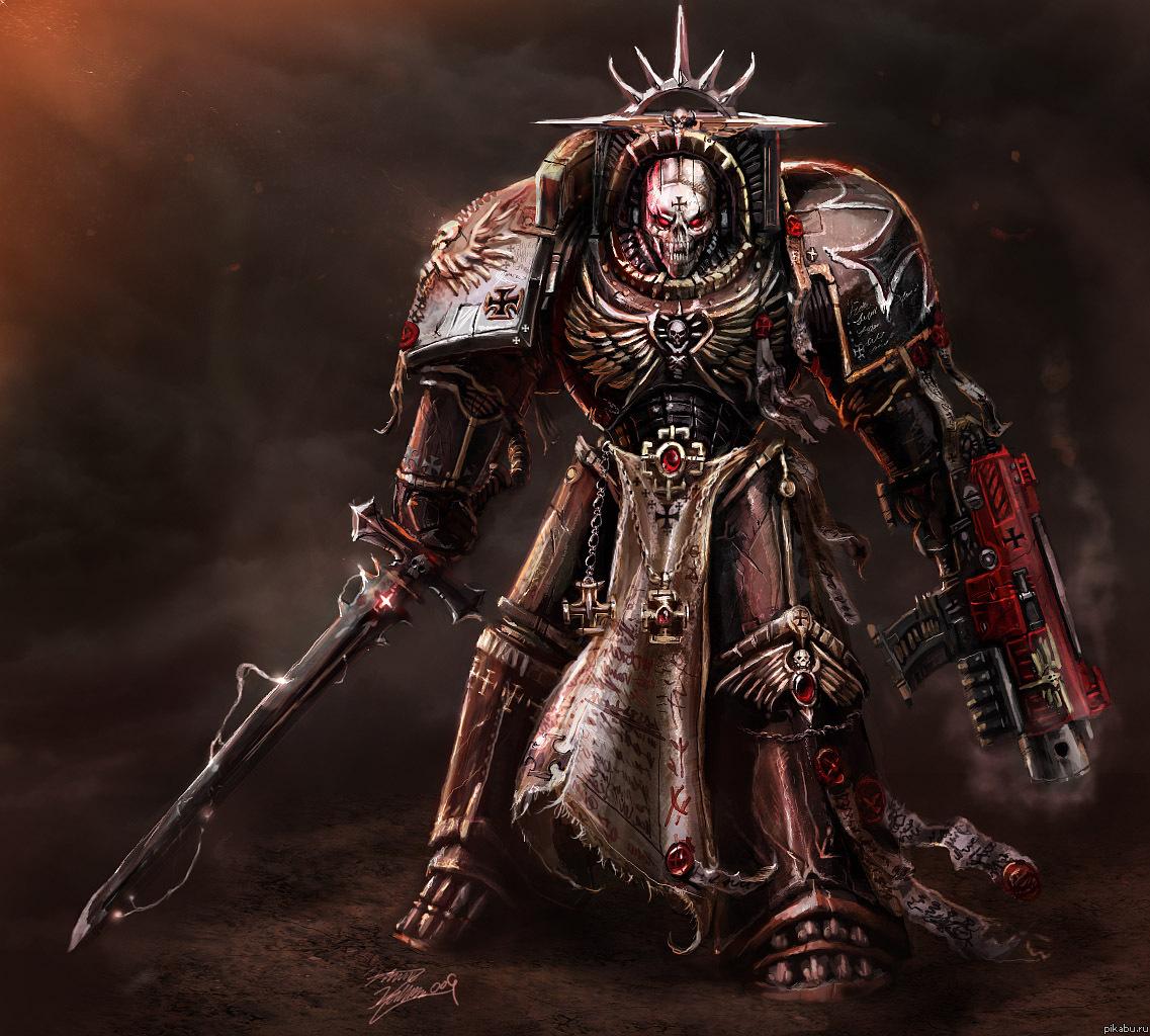 В продолжение темы Warhammer 40k. Капеллан Неуверенным я дарую свет.Сомневающимся я дарую веру. Опозоренным я дарую искупление.Неистовым я указываю направление.Слово в душе моей—словно болтер в руке моей