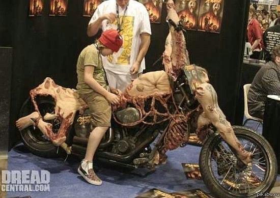 Как сделать мотоцикл из людей 472