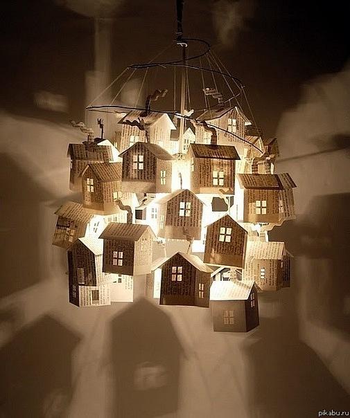Светильники из бумаги 243
