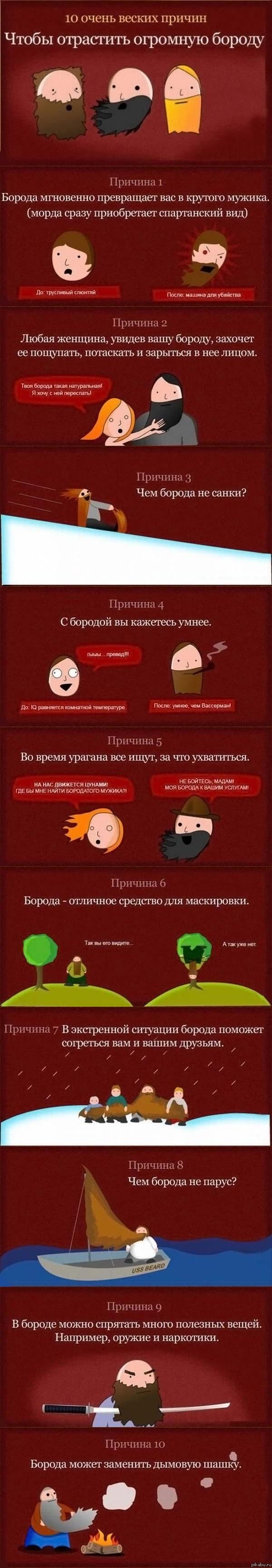 Зачем нужна борода длинная картинка