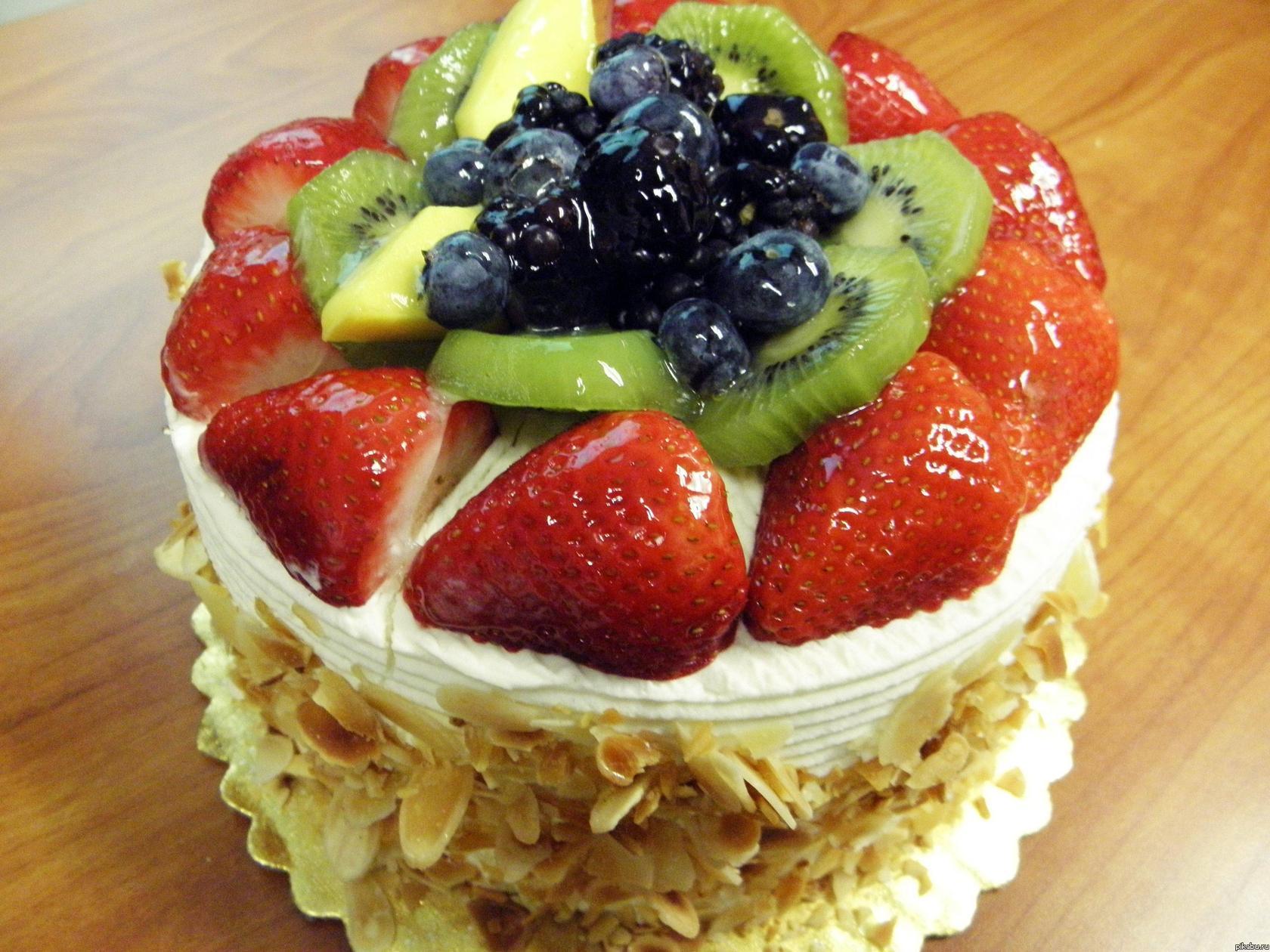 Вкусный фруктовый торт своими руками