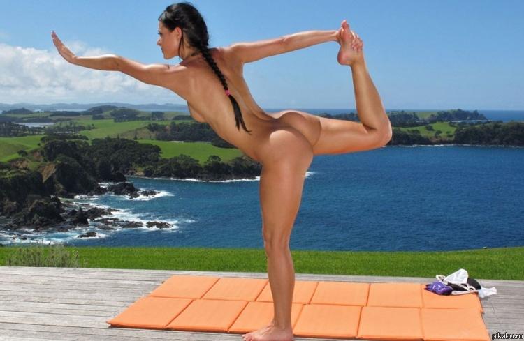 Йога голые девушки фото