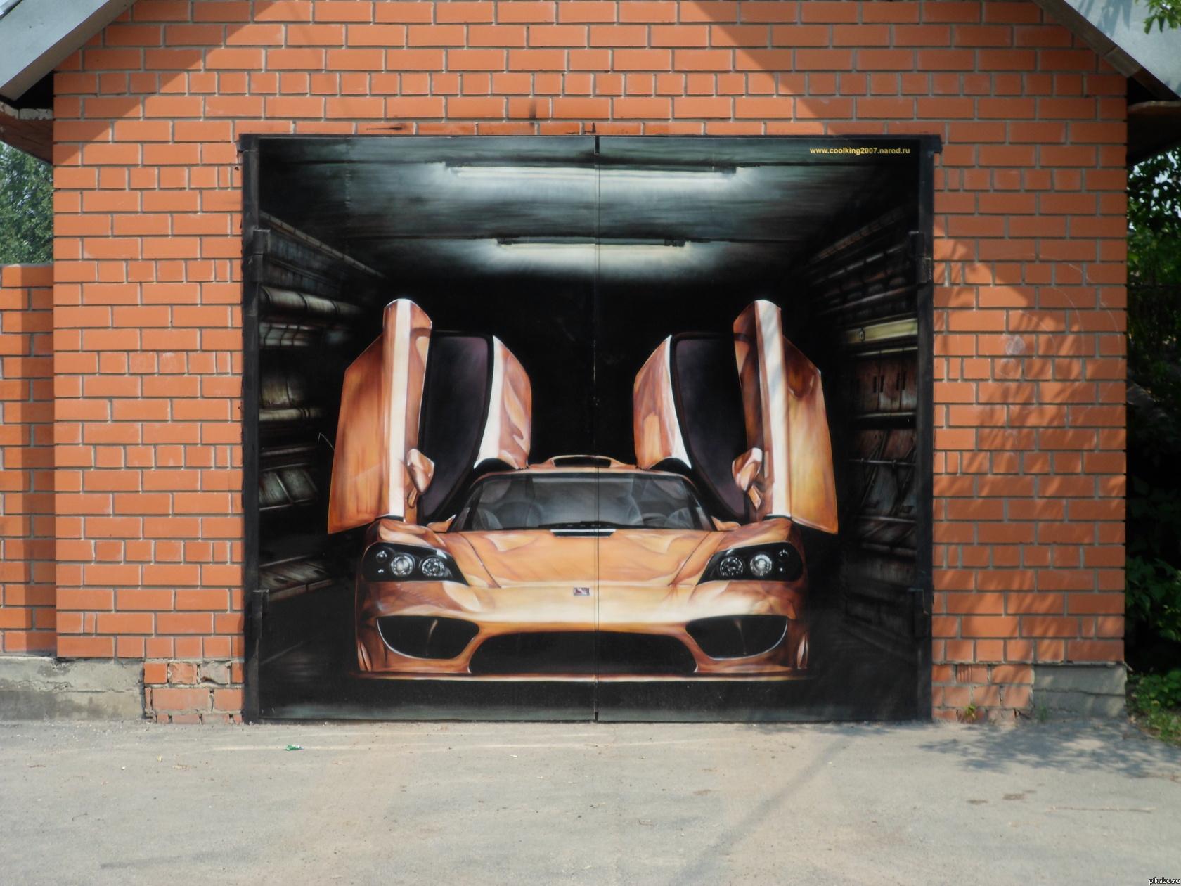 Рисунки на дверях гаража своими руками 65