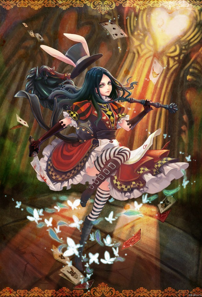 alice in wonderland madness returns drawings of roses