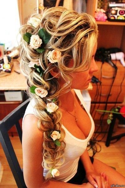 Фото причесок на свадьбу косы