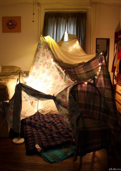 Фото как сделать шалаш в доме