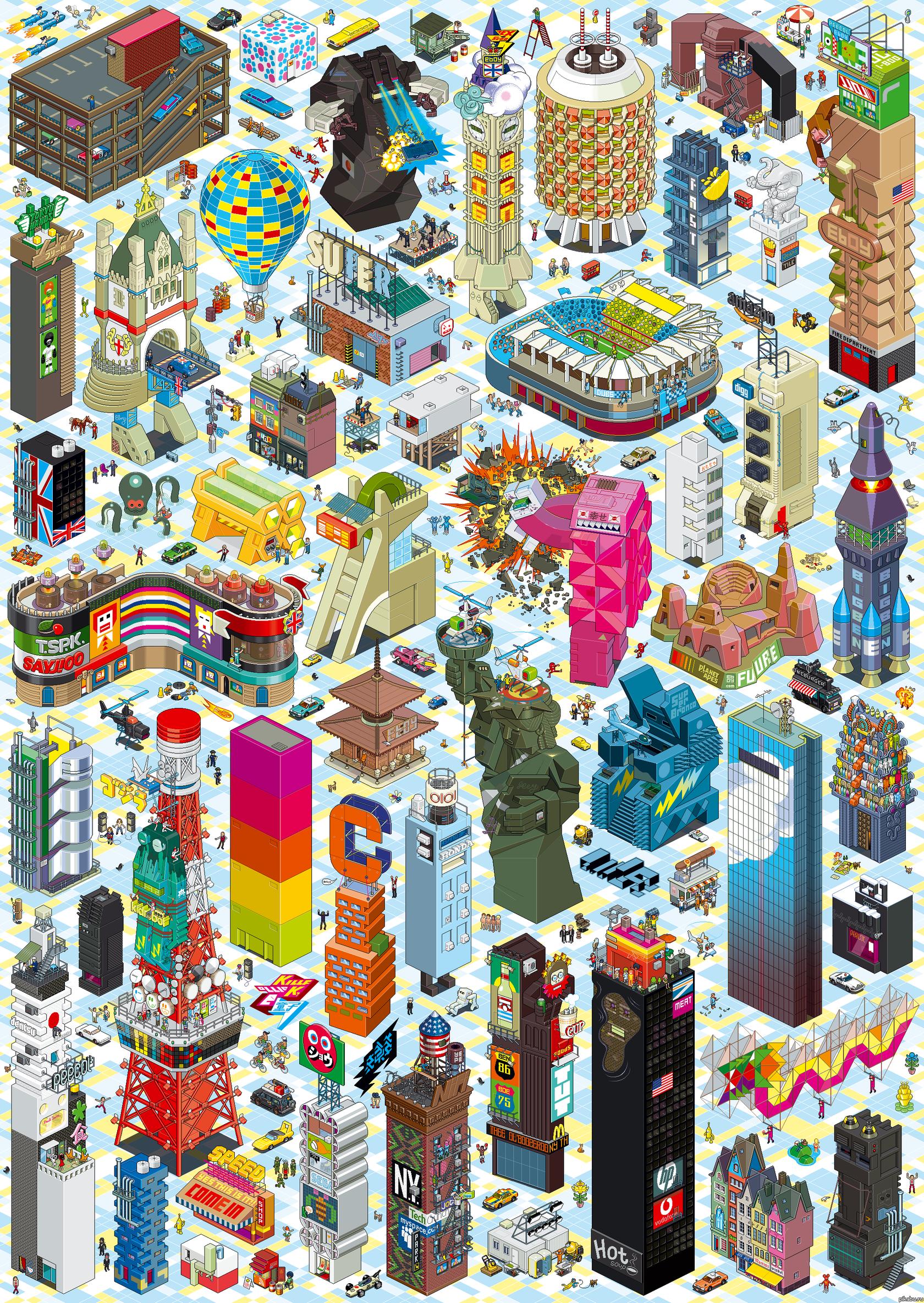 Еще немного Pixsel Art`а Картинка большая, так что можно тыкать и рассматривать )