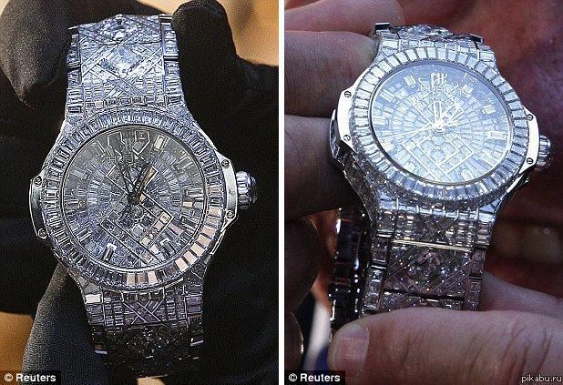Нехилые часики Швейцарская часовая компания представила на прошлой неделе часы, признанные самыми дорогими в мире.  стоят не  много ни мало 5 миллионов американских долларов.